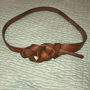Brown leather Loft belt